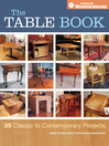 The Table Book (eBook): 35 Classic to Contemporary Projects